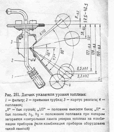 схема топлива на скутере